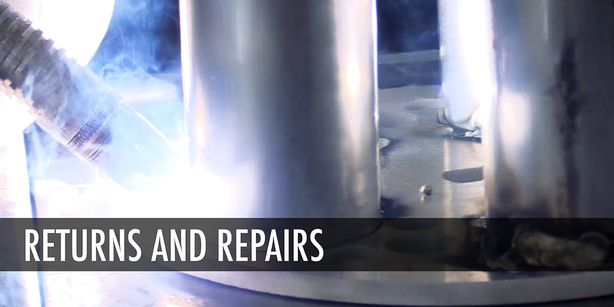 Thunder Equipment Returns and Repairs