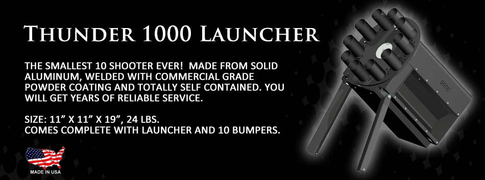 The Thunder 1000 Launcher - the world's smallest 10-shot launcher!