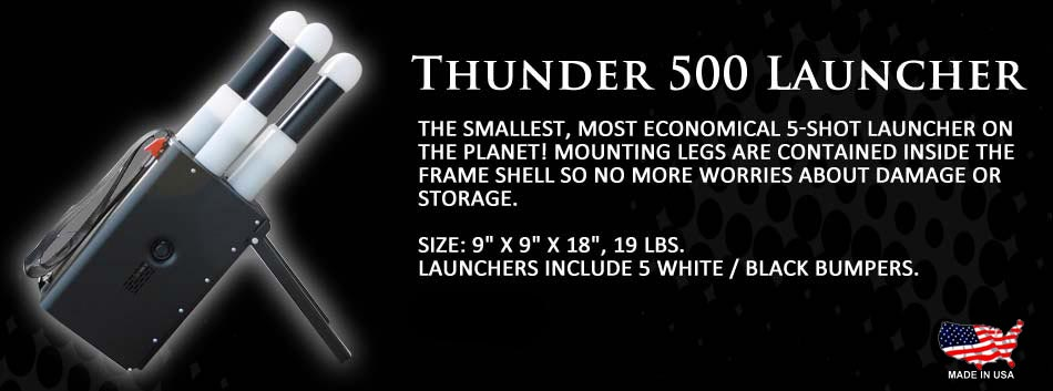 The Thunder 500 Launcher - the smallest 5-shot launcher on the planet!